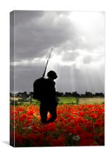 Lone Soldier, Canvas Print
