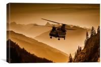 Chinook Sepia, Canvas Print