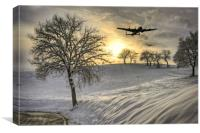 Winter In Bomber Country, Canvas Print