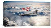XH558 with The Reds, Canvas Print