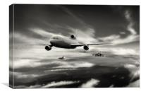 Refuelling Spartan Flight, Canvas Print