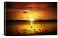 Warbirds at Sunset, Canvas Print