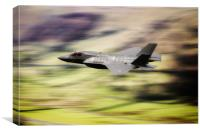 F35 Low Level, Canvas Print
