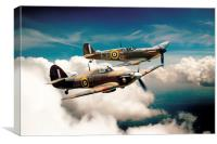 BBMF Spitfire and Hurricane, Canvas Print