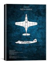 Hawker Sea Hawk, Canvas Print