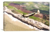 The Duxford Spitfire, Canvas Print