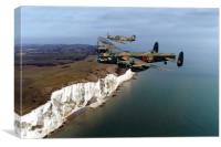 Lancaster and Hurricane, Canvas Print