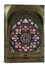 Prague Castle stained glass., Canvas Print