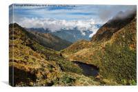 Andean Lake, Canvas Print