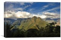Andean mountain range, Canvas Print