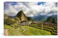 Crumbling Inca walls, Canvas Print