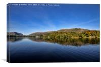 Grasmere on a summers day., Canvas Print