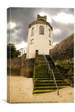 Tenby Tower, Canvas Print