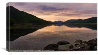 Loch Leven as the sun sets, Canvas Print