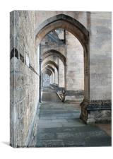 Winchester Cathedral Arches, Canvas Print