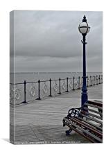 Post On The Pier, Canvas Print