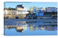 Tenby Harbour Reflections, Canvas Print