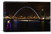 Millennium and Baltic at night, Canvas Print