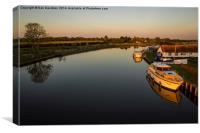 View from Acle Bridge, Canvas Print