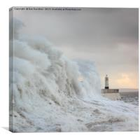 Porthcawl Lighthouse Square, Canvas Print