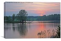 Willen Lake Sunset, Canvas Print
