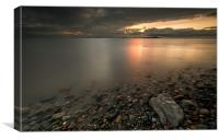 Allonby sunset, Canvas Print