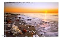 Hunstanton sea, Canvas Print
