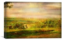From the Top of the Hill., Canvas Print