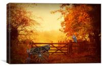 Waiting for the Hay Wain., Canvas Print