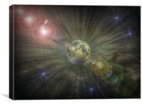 Galaxy Explosion., Canvas Print