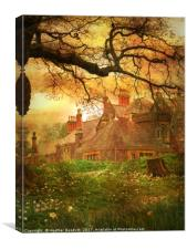 The House on the Hill., Canvas Print
