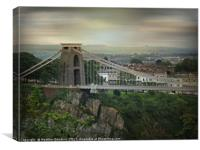 The Clifton Suspension Bridge, Canvas Print