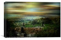 From Wookey to Glastonbury Tor, Canvas Print
