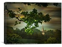 Evening in the Park, Canvas Print