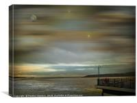 All's Quiet over the Bristol Channel, Canvas Print