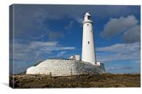 St. Marys Lighthouse, Canvas Print