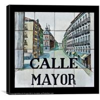 Calle Mayor, Canvas Print