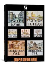 Madrid Street Signs, Canvas Print