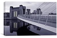 BALTIC & Gateshead Millennium Bridge, Canvas Print