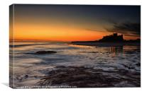 Bamburgh Castle at Sunrise, Canvas Print
