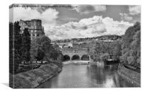 Pulteney Bridge River Avon Bath, Canvas Print