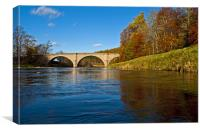 Potarch Bridge over the  river Dee, Canvas Print