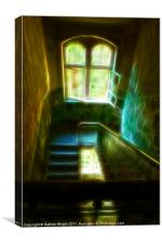 Ghost stairs, Canvas Print