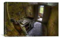 Kitchen with a loo, Canvas Print