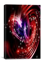 Two cosmis hearts, Canvas Print