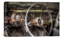 In the driving seat, Canvas Print