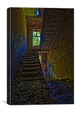 Ruined Stairs., Canvas Print