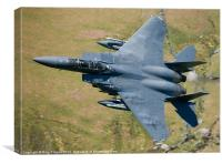 An F15 training in Wales, Canvas Print