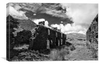 The remains of Rhosydd terrace, Canvas Print