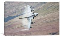 Gr4 on a low level approach, Canvas Print